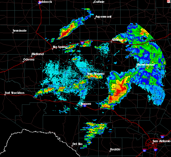 Radar Image for Severe Thunderstorms near Brady, TX at 5/8/2019 3:05 AM CDT
