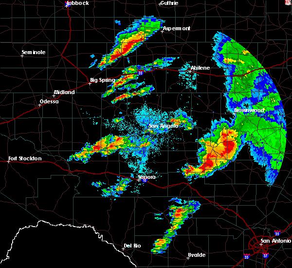 Radar Image for Severe Thunderstorms near Big Lake, TX at 5/8/2019 3:31 AM CDT