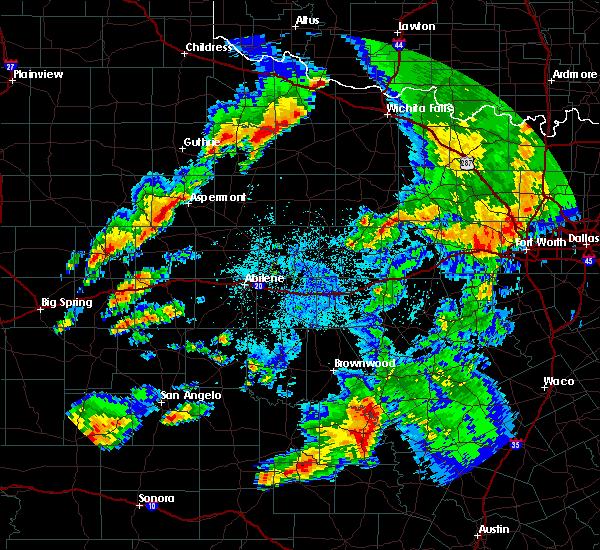 Radar Image for Severe Thunderstorms near Aspermont, TX at 5/8/2019 4:04 AM CDT