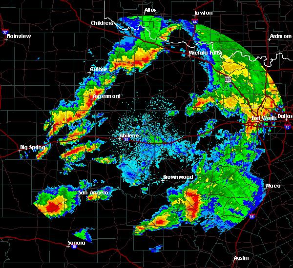 Radar Image for Severe Thunderstorms near Aspermont, TX at 5/8/2019 4:30 AM CDT