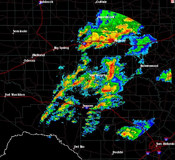 Radar Image for Severe Thunderstorms near Menard, TX at 5/8/2019 6:07 AM CDT