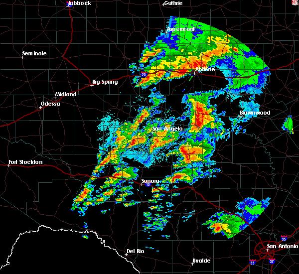 Radar Image for Severe Thunderstorms near Menard, TX at 5/8/2019 6:21 AM CDT