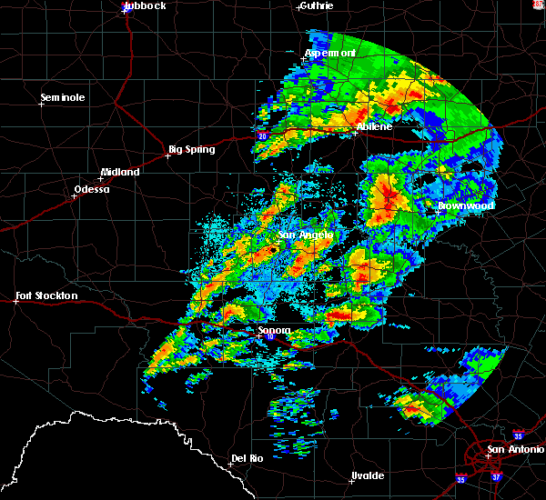 Radar Image for Severe Thunderstorms near Menard, TX at 5/8/2019 6:33 AM CDT