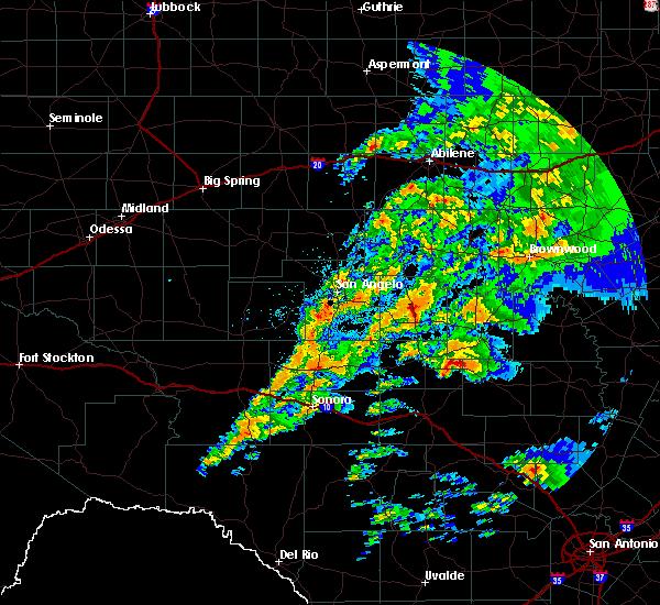Radar Image for Severe Thunderstorms near Eden, TX at 5/8/2019 7:21 AM CDT