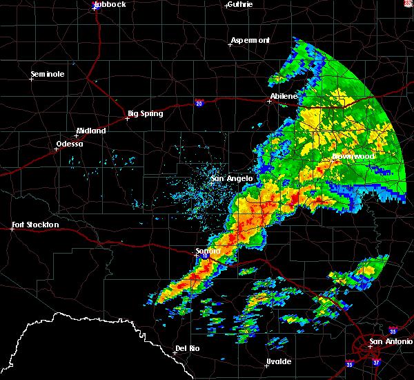 Radar Image for Severe Thunderstorms near Brady, TX at 5/8/2019 8:26 AM CDT