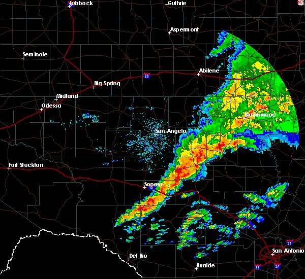 Radar Image for Severe Thunderstorms near Brady, TX at 5/8/2019 8:41 AM CDT