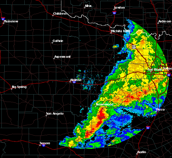 Radar Image for Severe Thunderstorms near Goldthwaite, TX at 5/8/2019 9:43 AM CDT