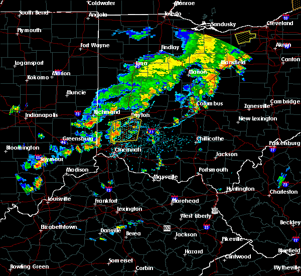 Radar Image for Severe Thunderstorms near Germantown, OH at 6/12/2015 3:35 PM EDT