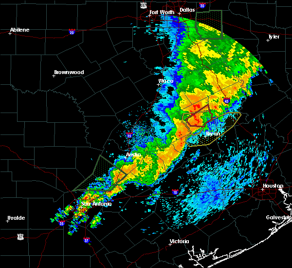 Radar Image for Severe Thunderstorms near Normangee, TX at 5/8/2019 1:44 PM CDT