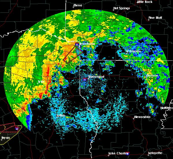Radar Image for Severe Thunderstorms near Atlanta, TX at 5/8/2019 1:51 PM CDT