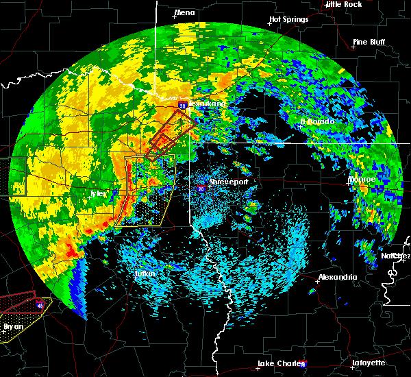 Radar Image for Severe Thunderstorms near Atlanta, TX at 5/8/2019 2:08 PM CDT