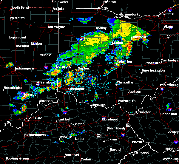 Radar Image for Severe Thunderstorms near Dayton, OH at 6/12/2015 3:44 PM EDT