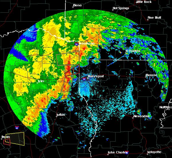 Radar Image for Severe Thunderstorms near Atlanta, TX at 5/8/2019 2:47 PM CDT