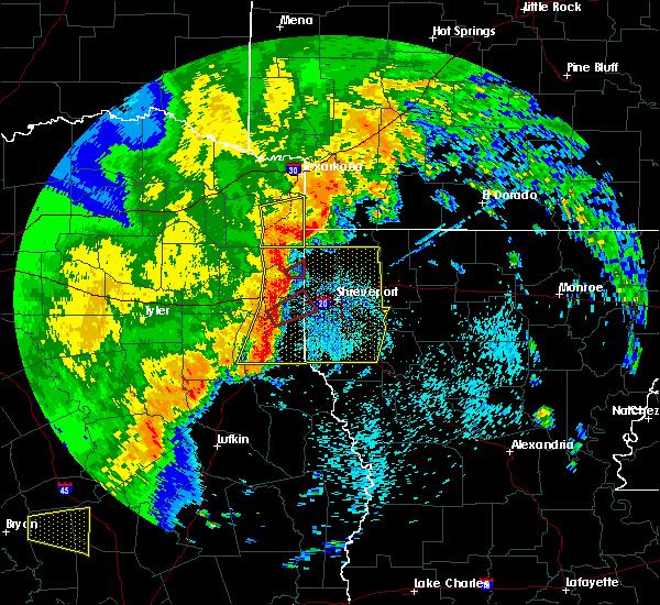 Radar Image for Severe Thunderstorms near Atlanta, TX at 5/8/2019 3:05 PM CDT
