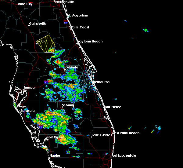 Radar Image for Severe Thunderstorms near Sorrento, FL at 6/12/2015 3:53 PM EDT