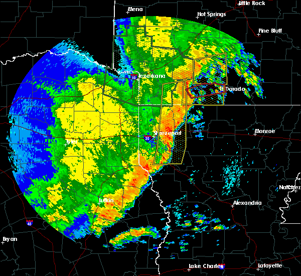 Radar Image for Severe Thunderstorms near Magnolia, AR at 5/8/2019 4:25 PM CDT