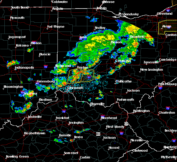 Radar Image for Severe Thunderstorms near Lebanon, OH at 6/12/2015 4:03 PM EDT