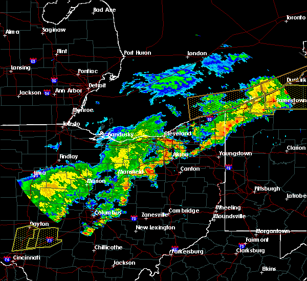 Radar Image for Severe Thunderstorms near South Canal, OH at 6/12/2015 4:03 PM EDT