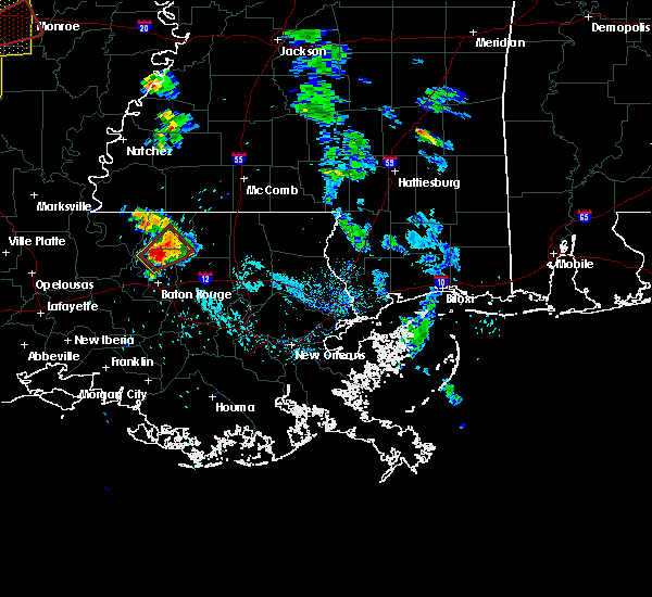 Radar Image for Severe Thunderstorms near Central, LA at 5/8/2019 5:55 PM CDT