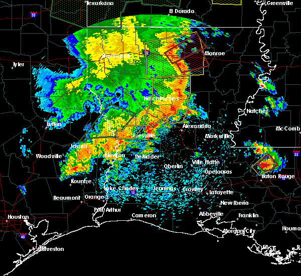 Radar Image for Severe Thunderstorms near Boyce, LA at 5/8/2019 6:07 PM CDT