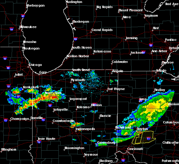 Radar Image for Severe Thunderstorms near Monon, IN at 6/12/2015 4:09 PM EDT