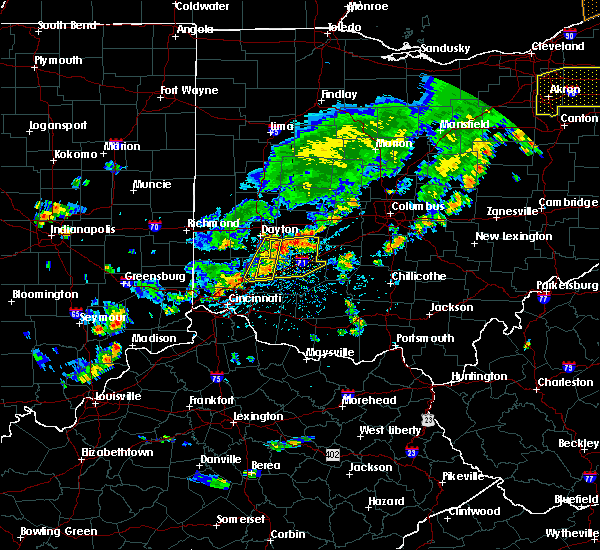 Radar Image for Severe Thunderstorms near Waynesville, OH at 6/12/2015 4:13 PM EDT