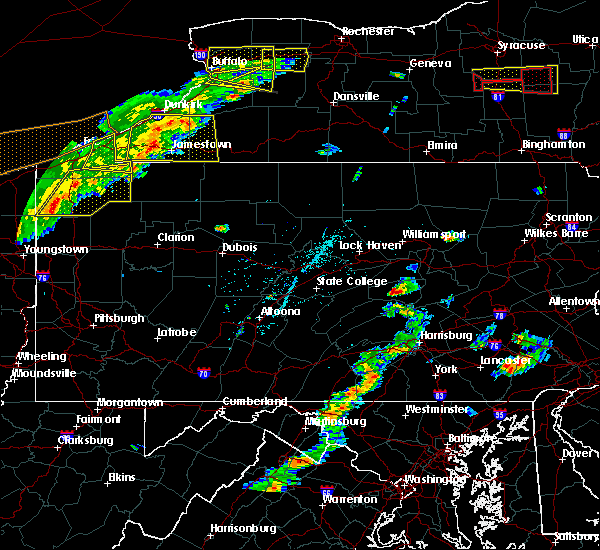 Radar Image for Severe Thunderstorms near Kreamer, PA at 6/12/2015 4:15 PM EDT