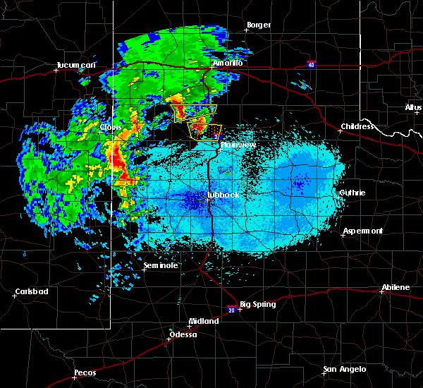 Radar Image for Severe Thunderstorms near Kress, TX at 5/8/2019 10:50 PM CDT