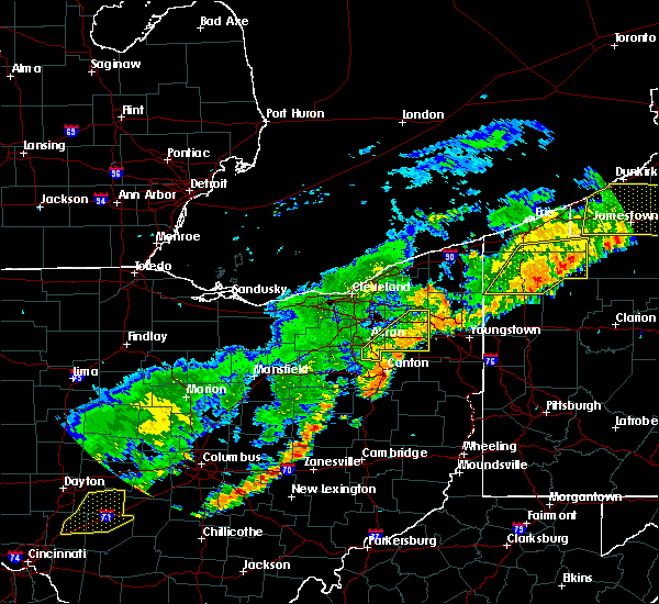 Radar Image for Severe Thunderstorms near South Canal, OH at 6/12/2015 4:28 PM EDT