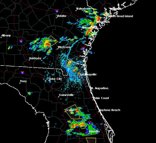 Radar Image for Severe Thunderstorms near Ocala, FL at 6/12/2015 4:33 PM EDT