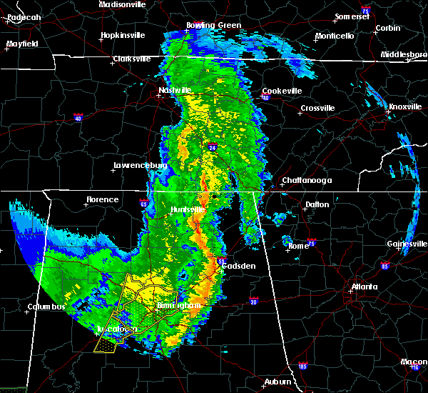 Radar Image for Severe Thunderstorms near Winchester, TN at 5/9/2019 1:30 PM CDT