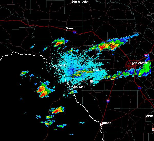 Radar Image for Severe Thunderstorms near Ingram, TX at 5/9/2019 1:36 PM CDT