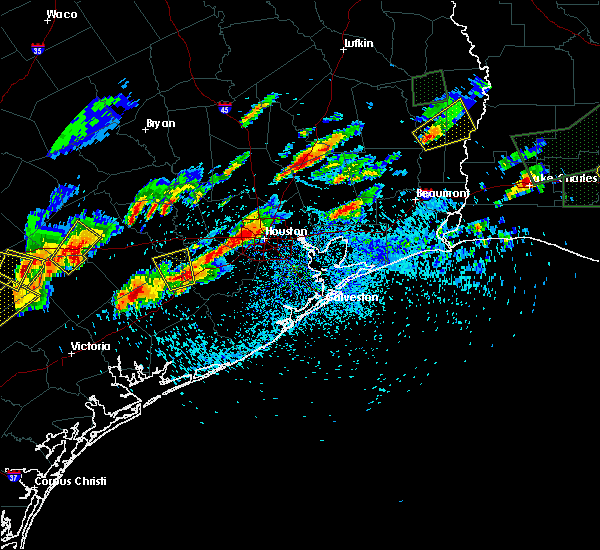 Radar Image for Severe Thunderstorms near Wharton, TX at 5/9/2019 6:43 PM CDT
