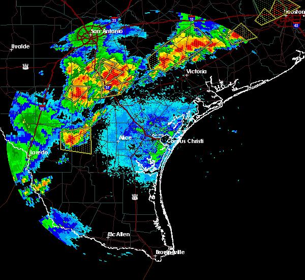 Radar Image for Severe Thunderstorms near Freer, TX at 5/9/2019 8:41 PM CDT