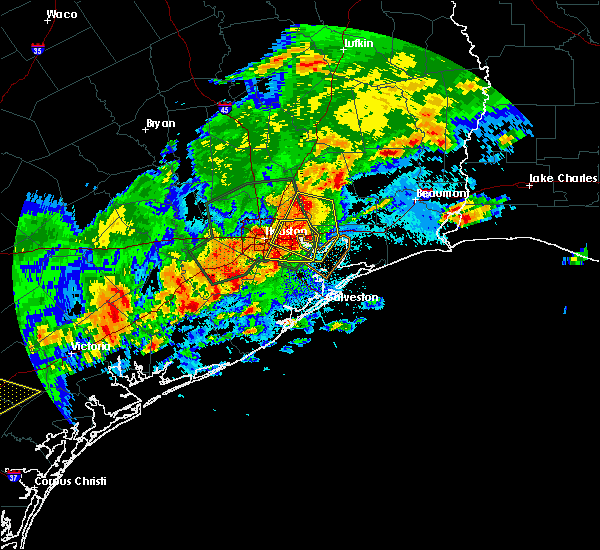 Radar Image for Severe Thunderstorms near Channelview, TX at 5/9/2019 10:15 PM CDT