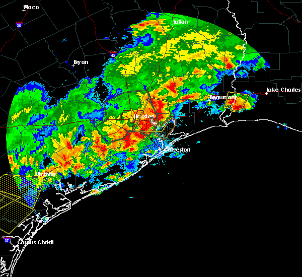Radar Image for Severe Thunderstorms near Channelview, TX at 5/9/2019 10:36 PM CDT
