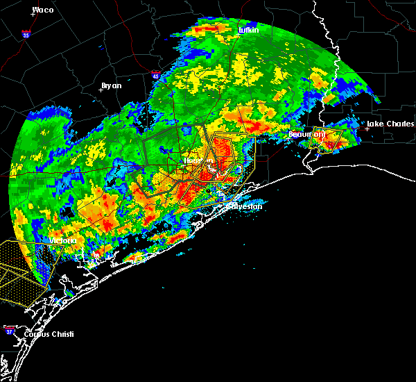 Radar Image for Severe Thunderstorms near Seabrook, TX at 5/9/2019 10:46 PM CDT