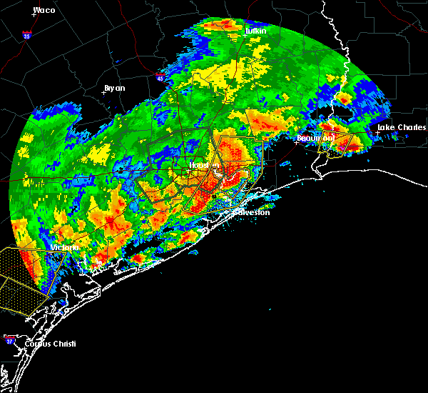 Radar Image for Severe Thunderstorms near Beach City, TX at 5/9/2019 10:57 PM CDT