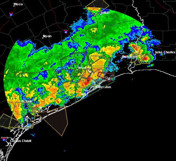 Radar Image for Severe Thunderstorms near Old River-Winfree, TX at 5/9/2019 11:13 PM CDT
