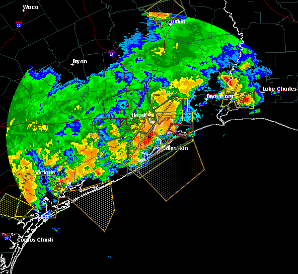 Radar Image for Severe Thunderstorms near Bolivar Peninsula, TX at 5/9/2019 11:16 PM CDT