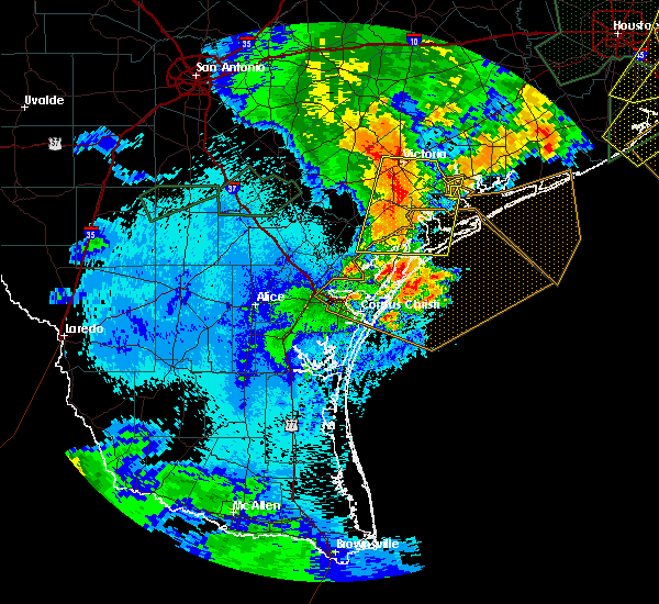 Radar Image for Severe Thunderstorms near Corpus Christi, TX at 5/9/2019 11:24 PM CDT