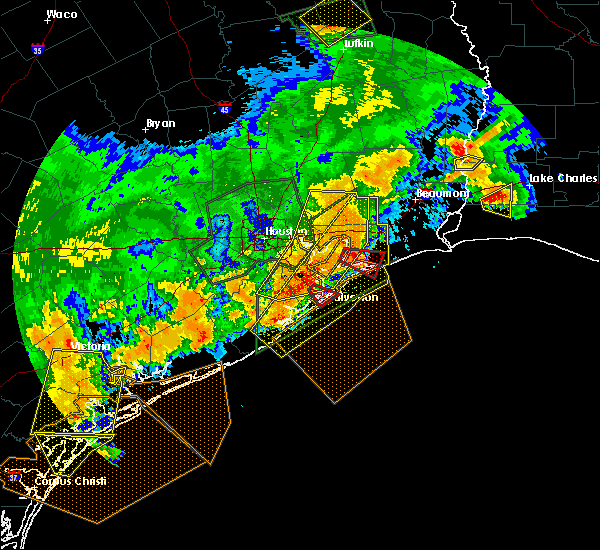 Radar Image for Severe Thunderstorms near Texas City, TX at 5/9/2019 11:25 PM CDT
