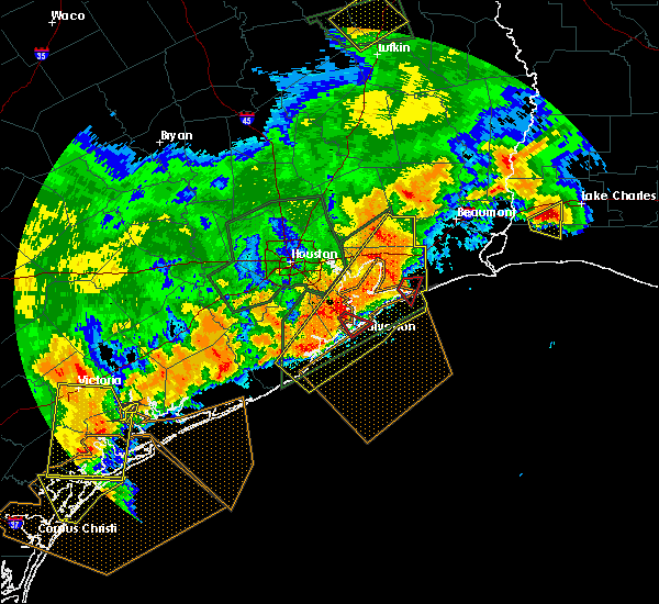 Radar Image for Severe Thunderstorms near Texas City, TX at 5/9/2019 11:36 PM CDT