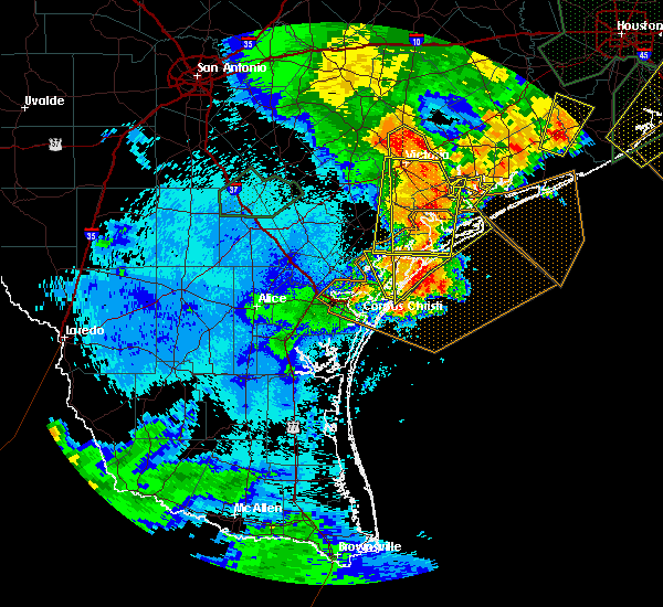 Radar Image for Severe Thunderstorms near Corpus Christi, TX at 5/9/2019 11:44 PM CDT