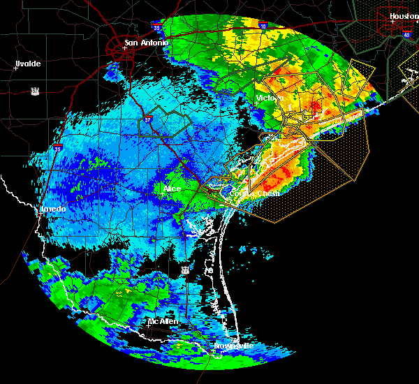 Radar Image for Severe Thunderstorms near Corpus Christi, TX at 5/10/2019 12:14 AM CDT