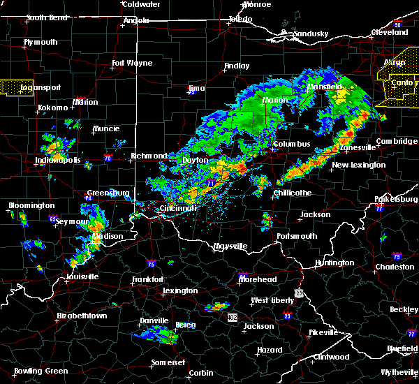 Radar Image for Severe Thunderstorms near Obetz, OH at 6/12/2015 4:42 PM EDT