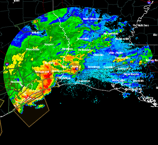 Radar Image for Severe Thunderstorms near Lake Charles, LA at 5/10/2019 12:30 AM CDT