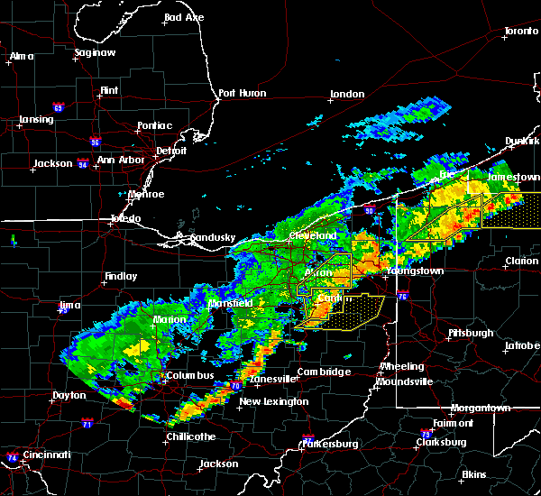 Radar Image for Severe Thunderstorms near Plainfield, OH at 6/12/2015 4:42 PM EDT
