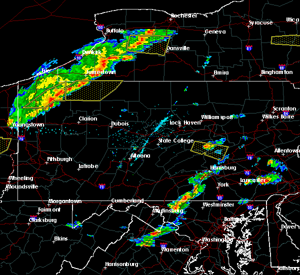Radar Image for Severe Thunderstorms near Kreamer, PA at 6/12/2015 4:43 PM EDT