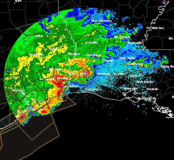 Radar Image for Severe Thunderstorms near Lake Charles, LA at 5/10/2019 12:57 AM CDT